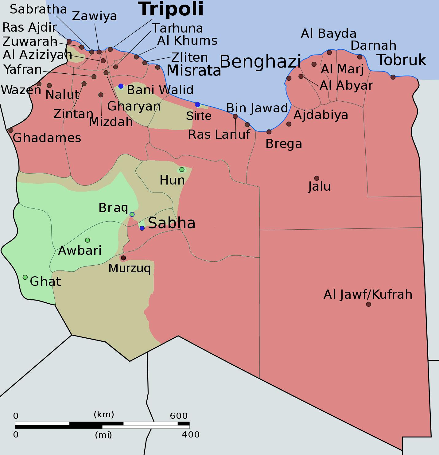 Mapas para entender la situación en Libia (1) | Eurasian Hub