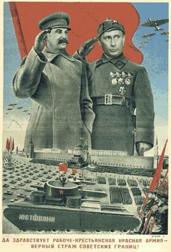 Cine sovietico: Stalin contra los Blancos ( El Inolvidable año 1919 de Mikheil Chiaurelli)  Stalin_putin1