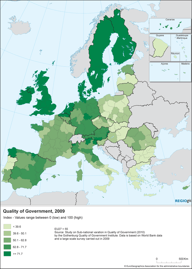 Quality Of Government In EU Regions